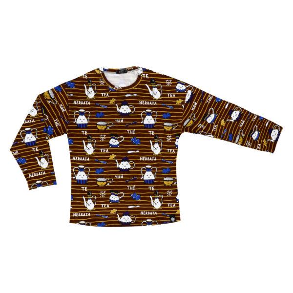 T-Shirt dla Mam Długi Rękaw – Herbata NOWA KOLEKCJA
